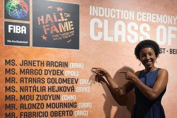Janeth se juntou a 11 nomes no Hall da Fama (Foto: Divulgação/Janeth Arcain)