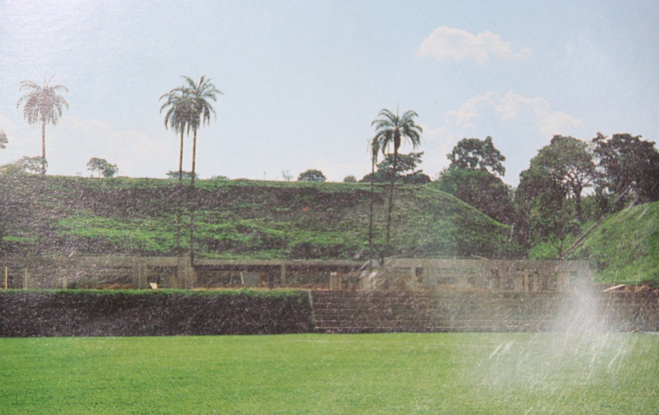 Campo e estrutura dos vestiários do CT, em contrução na época de Elias Kalil: muitos pensam que a Cidade do Galo brotou sem o esforço de ninguém