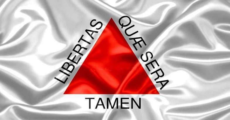 Bandeira de Minas Gerais - Liberdade, ainda que molhada