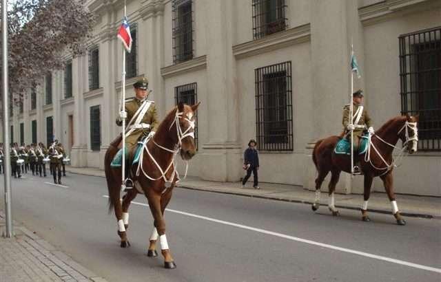 Troca da Guarda do Palácio de Moneda - Arquivo Pessoal