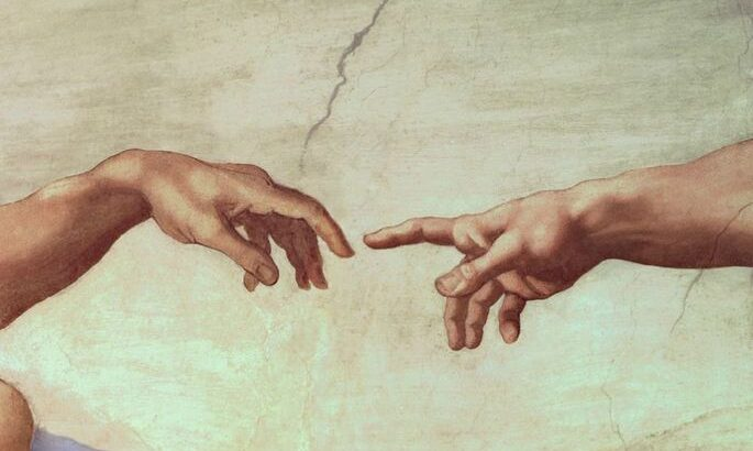 A Criação de Adão Fresco de Michelangelo