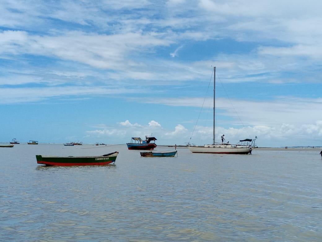 Os barcos e o mar em Cumuruxatiba - Arquivo Pessoal
