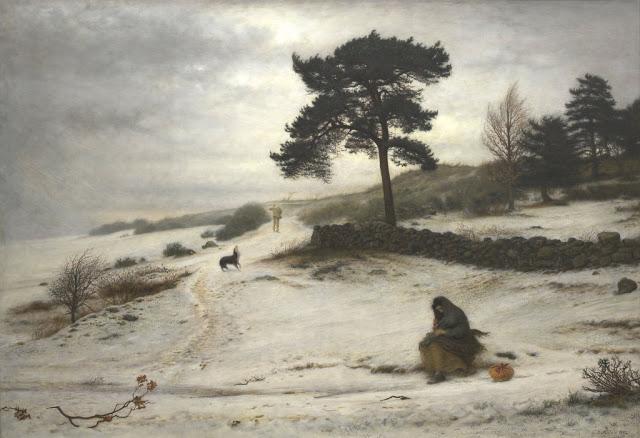 """Brisa de Inverno - """"Paisagem de Inverno"""" - John Everett - 1829-1926"""
