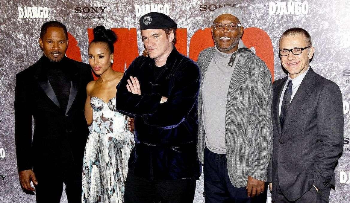 Foxx, Kerry, Tarantino, Jackson e Waltz na estreia em Paris