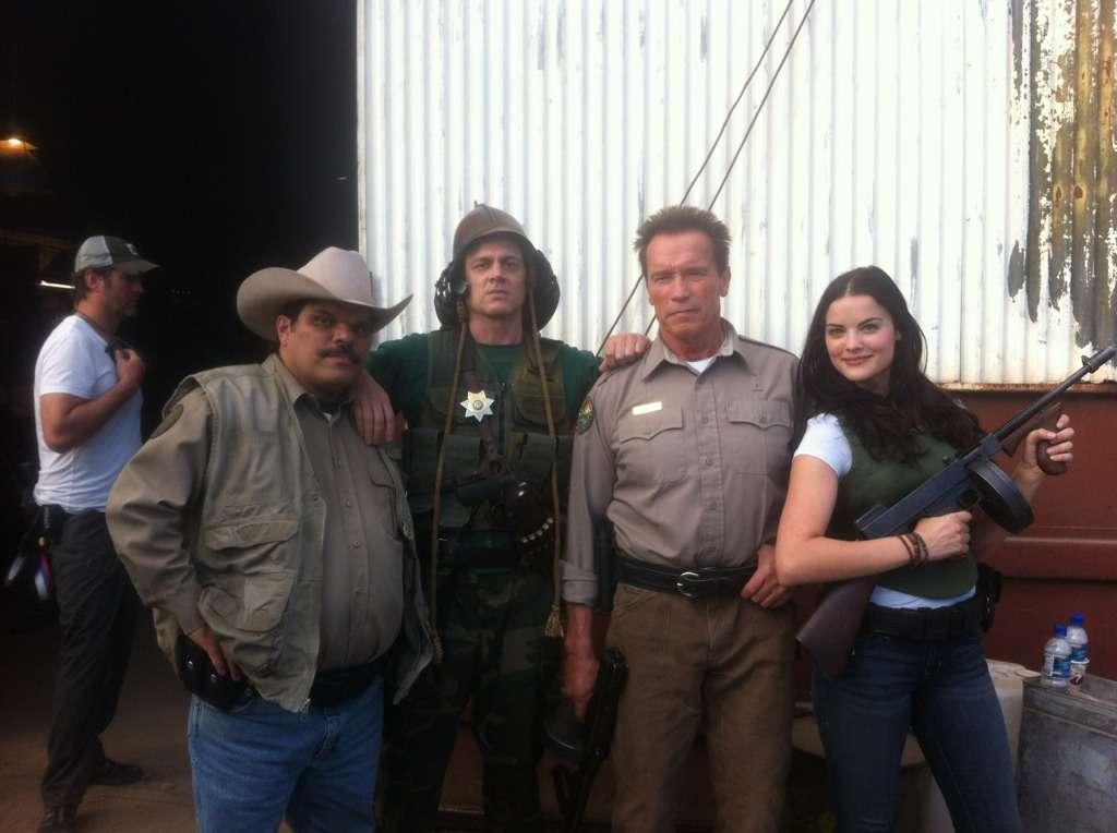 Pausa para foto da equipe do xerife