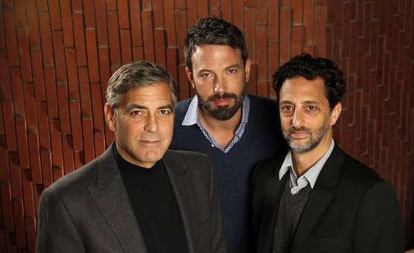 Os produtores de Argo: George Clooney, Ben Affleck e Grant Heslov