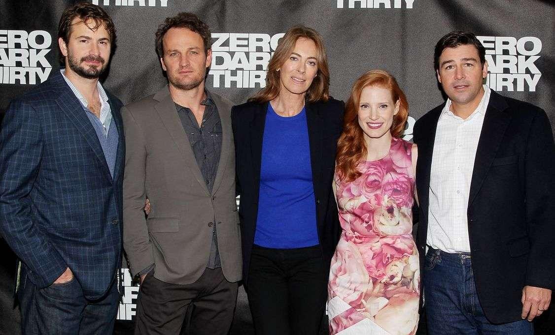 Boal, Clarke, a diretora Bigelow, Chastain e Chandler em Nova York