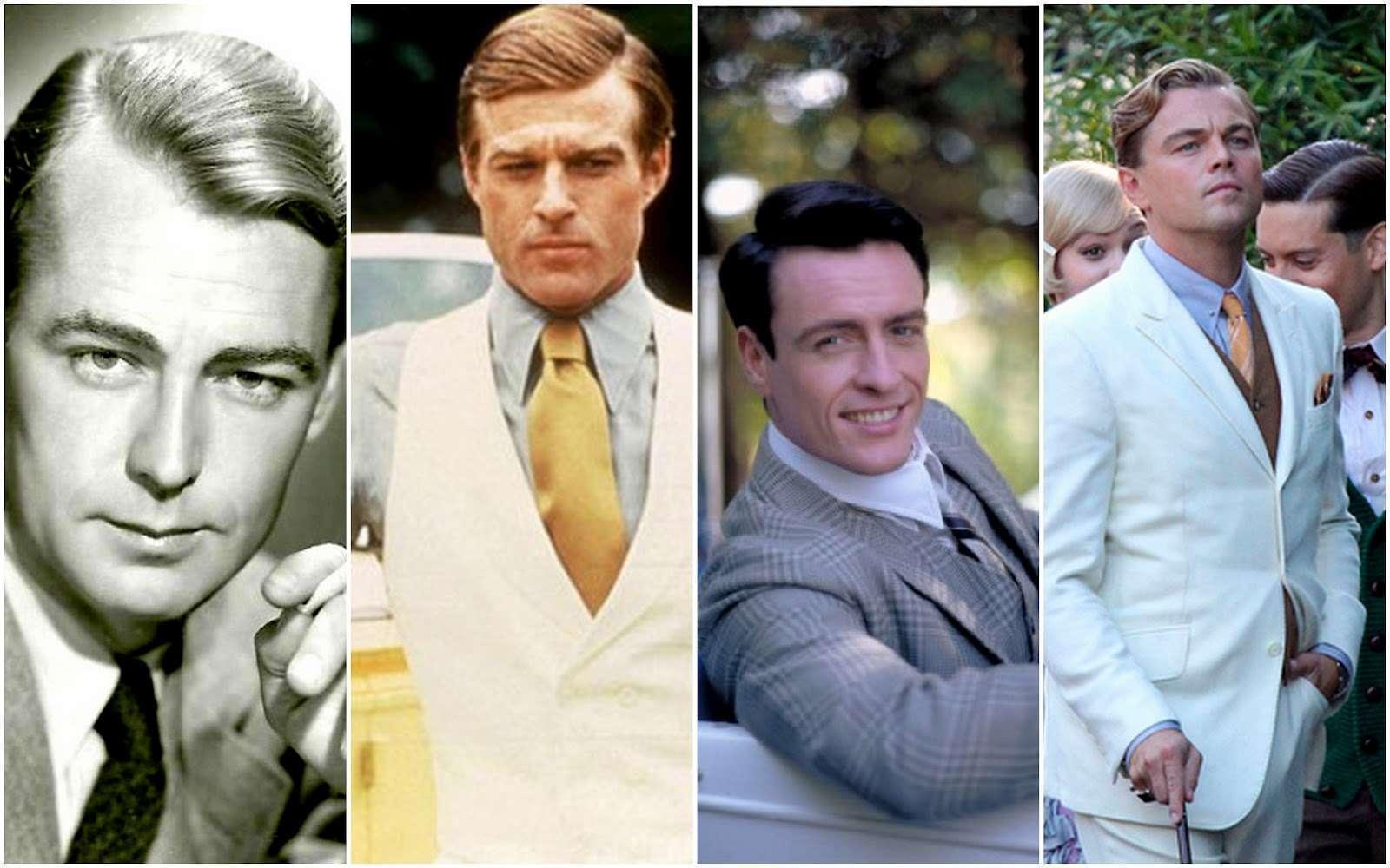 Quatro encarnações: Alan Ladd, Redford, Toby Stephens e DiCaprio