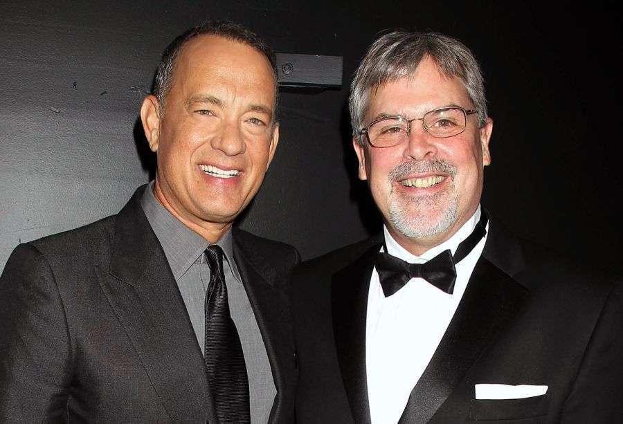 O ator e o verdadeiro Phillips comparecem ao lançamento mundial, no Festival de Nova York