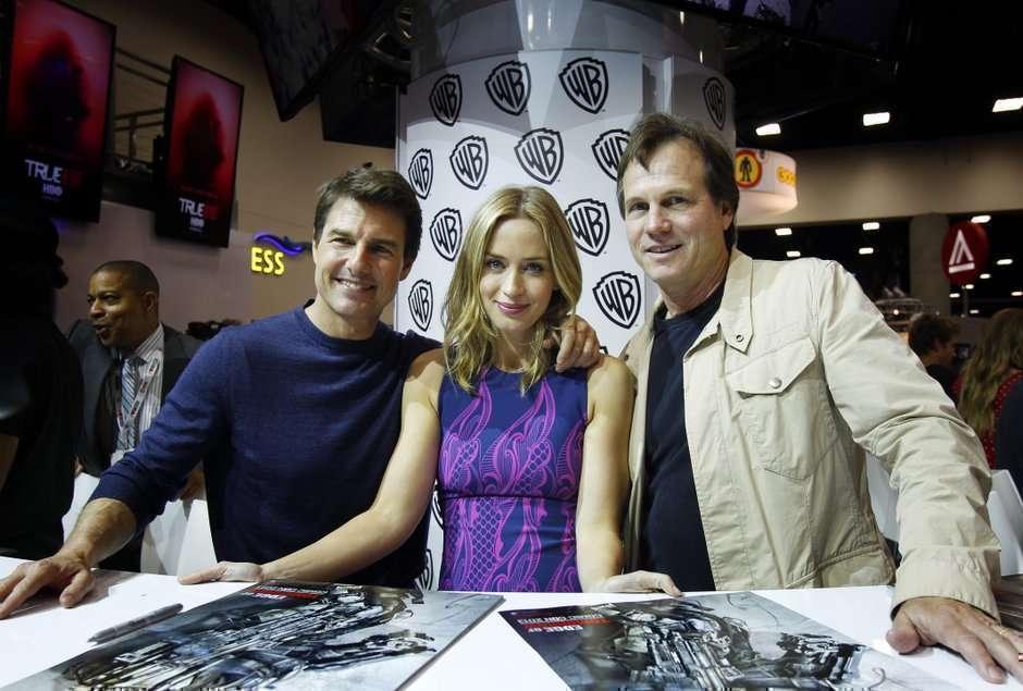 O casal principal e Paxton compareceram à Comic Con