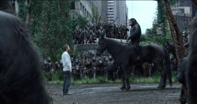 Dawn of the Planet of the Apes scene