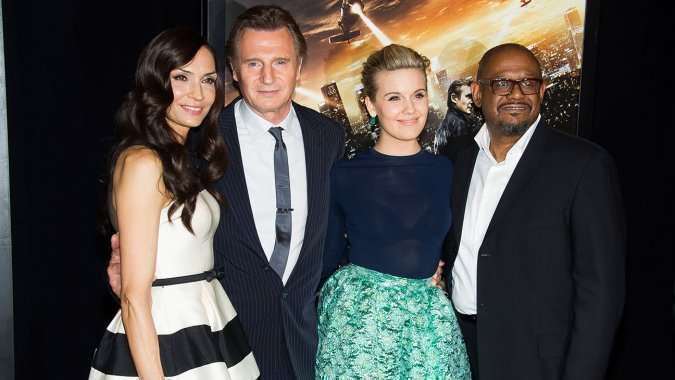 O elenco principal promoveu o filme em Nova York