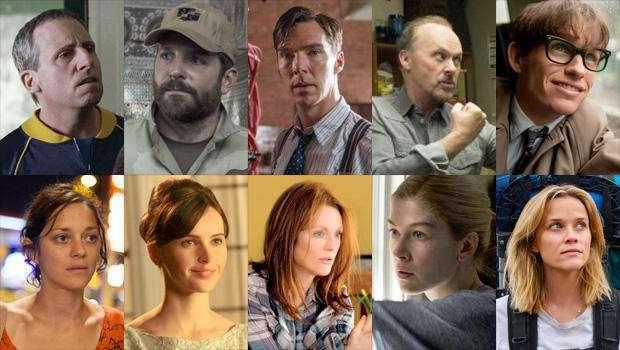 Estes são os atores e atrizes principais indicados de 2015
