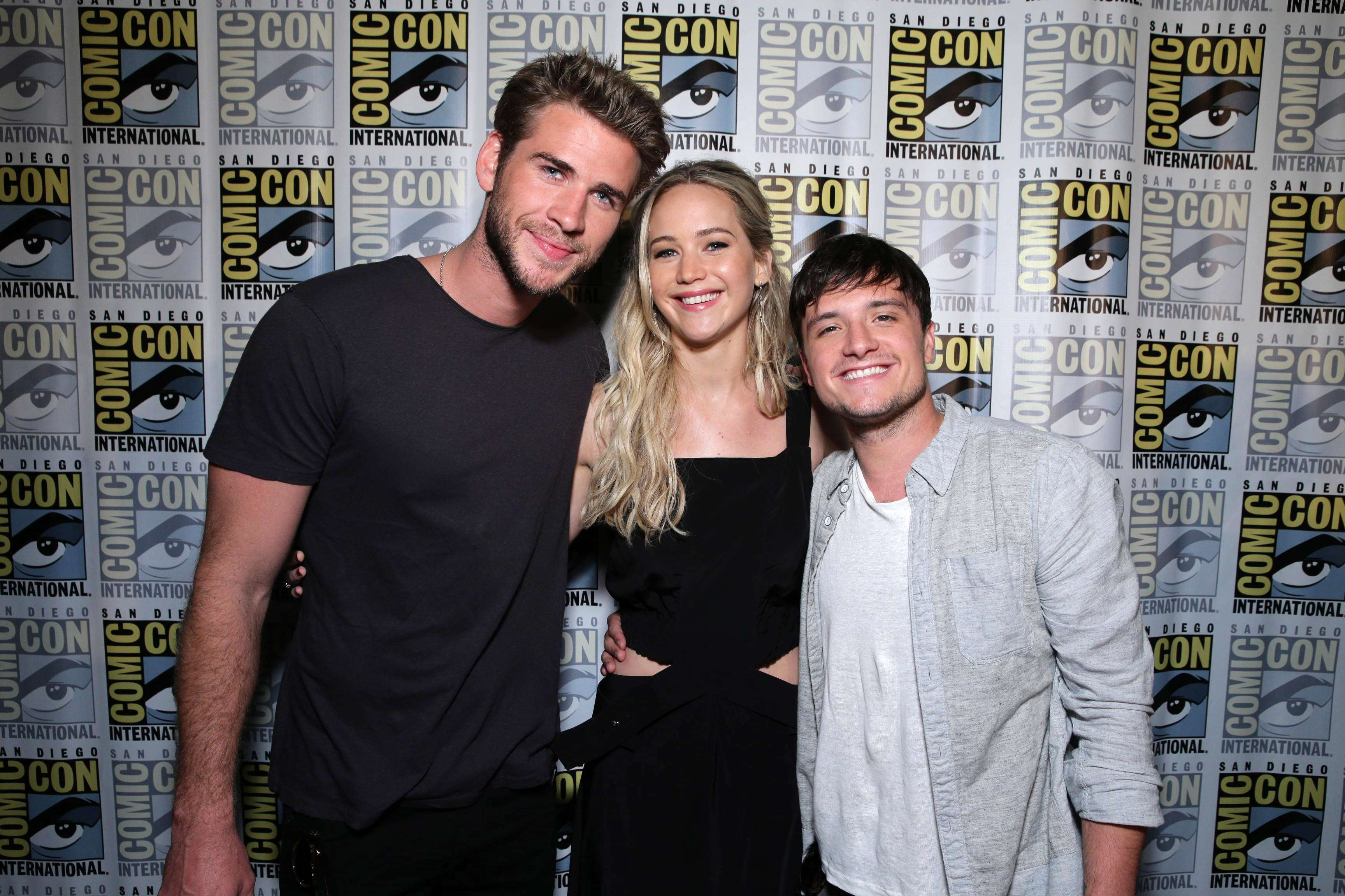 Liam Hemsworth, Josh Hutcherson, Jennifer Lawrence