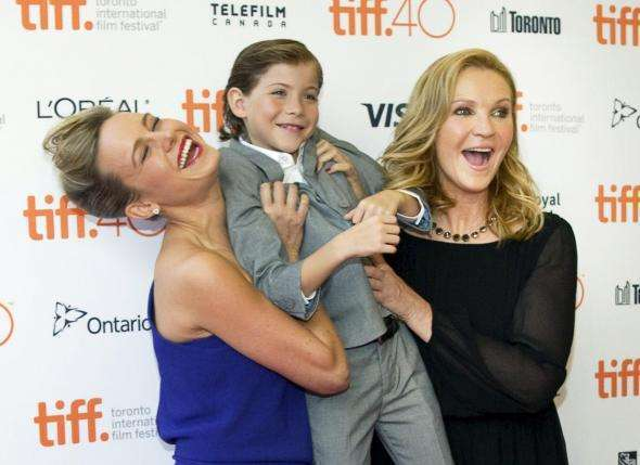"Actor Brie Larson, Jacob Trembley and Joan Allen arrive for the premiere of the movie ""Room"" at TIFF the Toronto International Film Festival in Toronto."