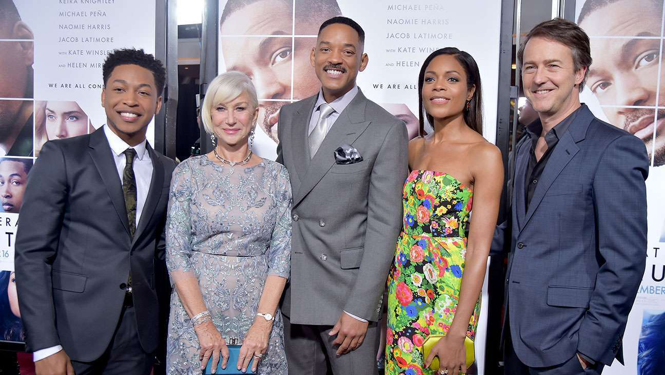 Latimore, Mirren, Smith, Harris e Norton  no lançamento do longa, em NY